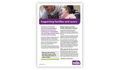 Supporting families carers